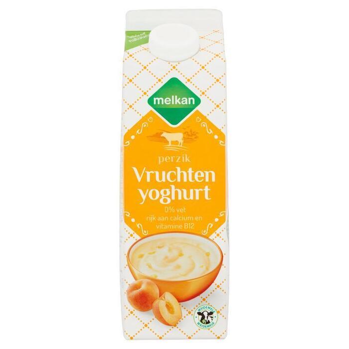 Vruchtenyoghurt perzik (pak, 1L)