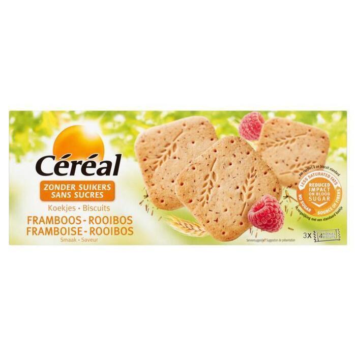 Cereal Koek framboos & rooibos suikervrij (150g)