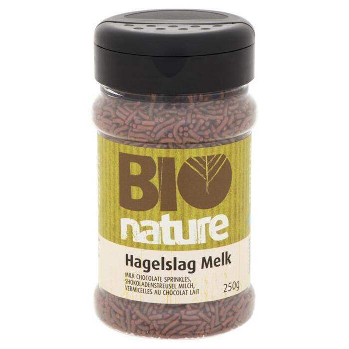 Bio Nature Hagelslag melk 250 g koker (250g)