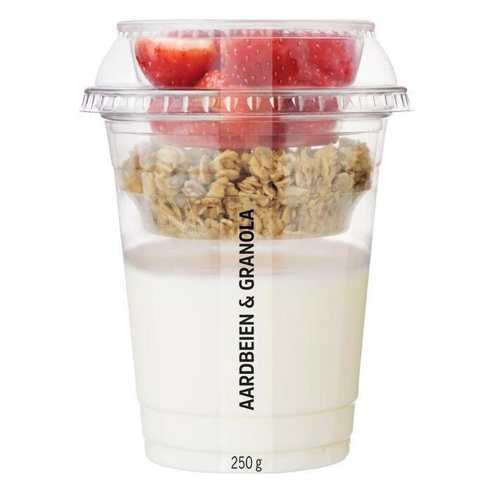 AH Vers fruit met yoghurt aardbeien granola (250g)