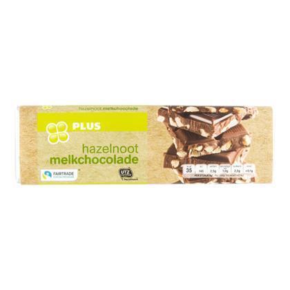 Hazelnoot chocoladereep (wikkel, 180g)