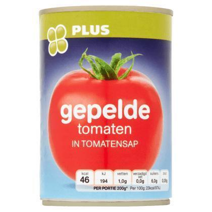 Gepelde tomaten in tomatensap (Blik, 400g)