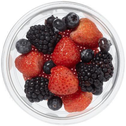 Vers gesneden fruit roodfruit (100g)