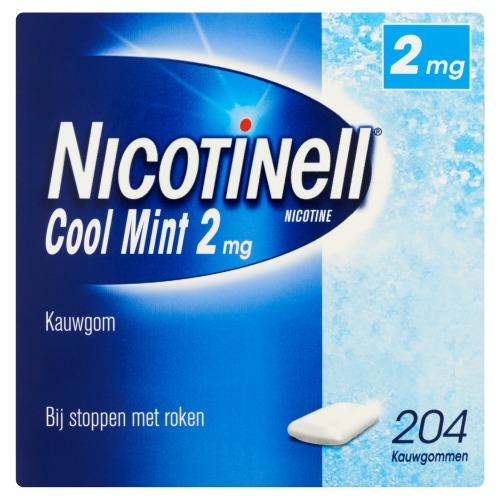 Nicotinell Nicotine Cool Mint 2 mg 204 Kauwgommen