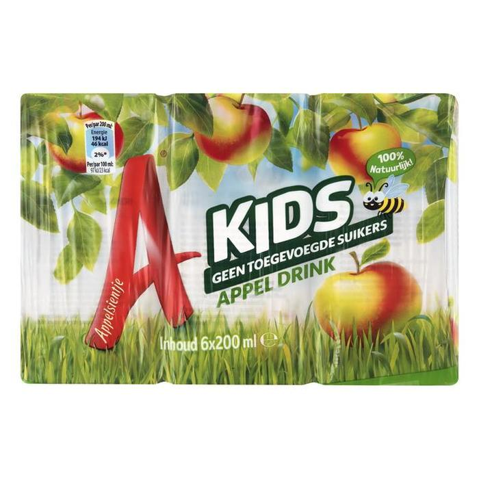 Kids Appel Drink (pak, 6 × 200ml)