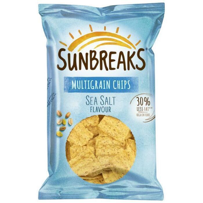 Sunbreaks Meergranen chips zeezout (95g)