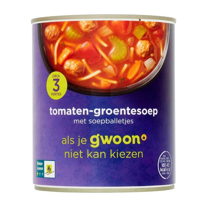g'woon Tomaten groentesoep (0.8L)