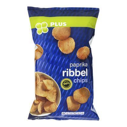 PLUS Chips ribbel paprika (215g)
