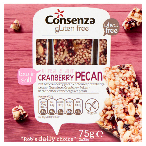 Notenreep cranberry-pecan (25g)