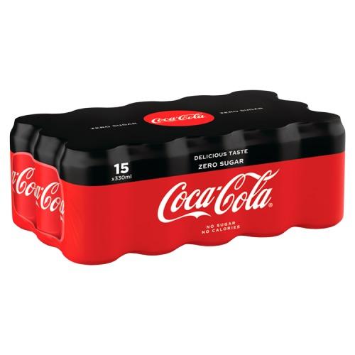 Coca-Cola zero sugar (15 × 33cl)