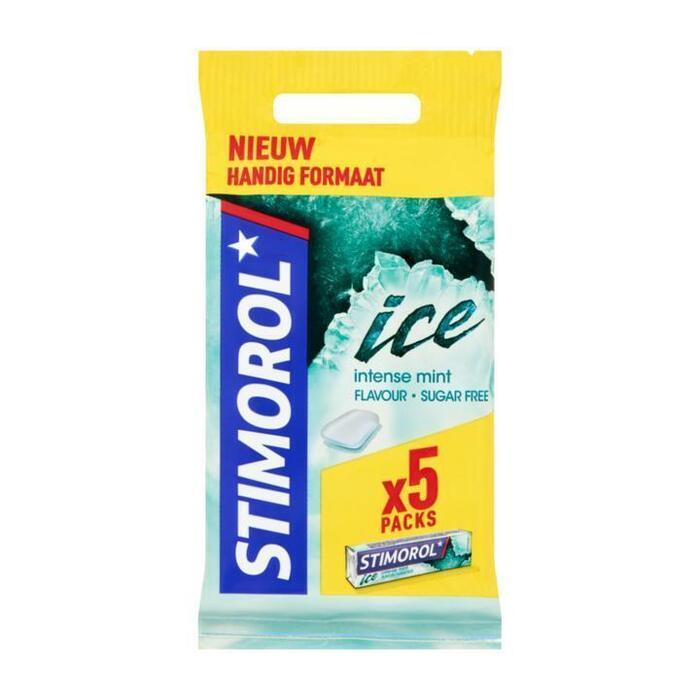 Stimorol Kauwgom Ice Intense Mint Gum 3 Packs 71,8 g (Stuk, 5 × 14g)