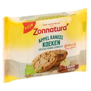 Zonnatura Gluten vrij koekje  appel - kaneel (75g)