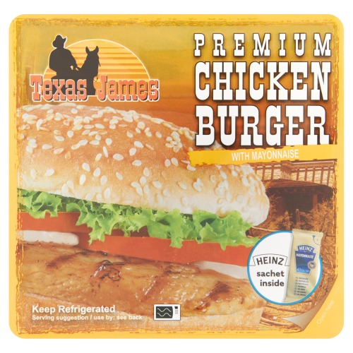Premium Chickenburger 121 g (bak, 121g)