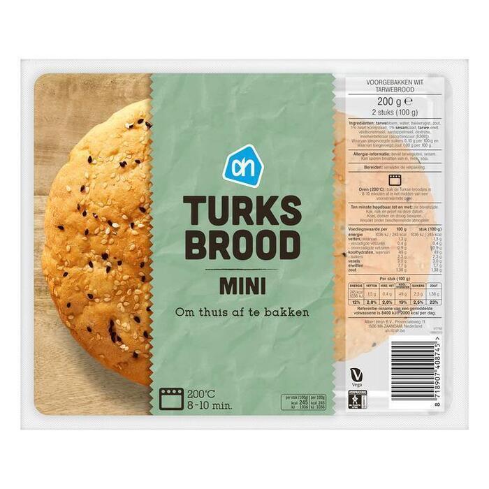 AH Mini turks brood (200g)