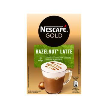 Latte Hazelnut (doos, 8 zakjes) (Stuk, 8 × 17g)