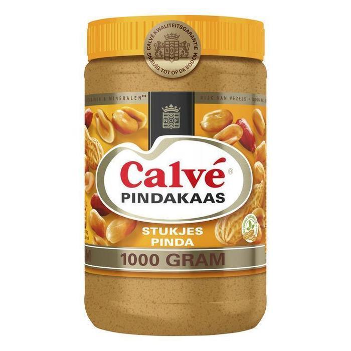Pindakaas met stukje pinda (pot, 1kg)