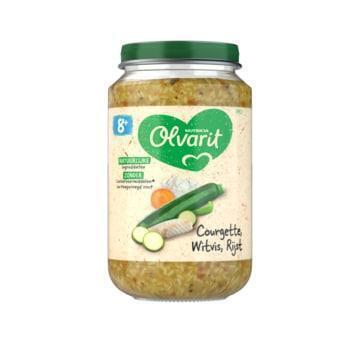 Olvarit Courgette witvis rijst 8 maanden (200g)