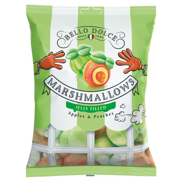 Bello Dolce Marshmallows jelly filled apple-peach (150g)