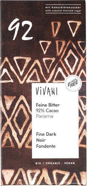 Vivani Feine Bitter 92% Cacao (80g)