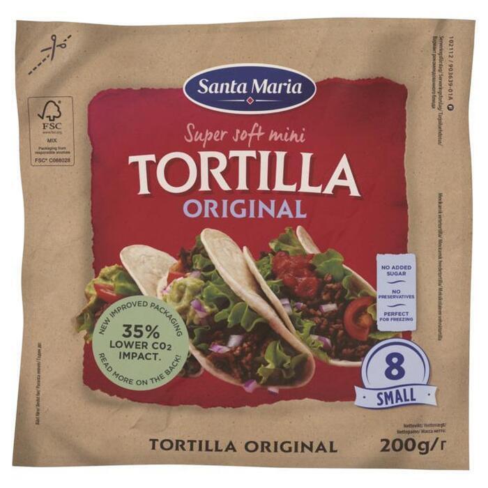 Tortilla''s mini (8 × 200g)
