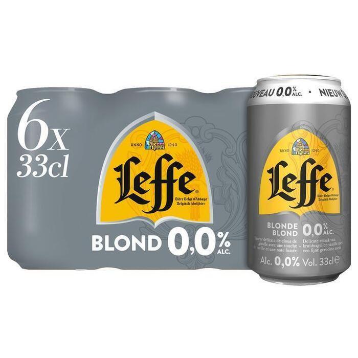 Leffe Blond 0.0% (blik, 6 × 33cl)