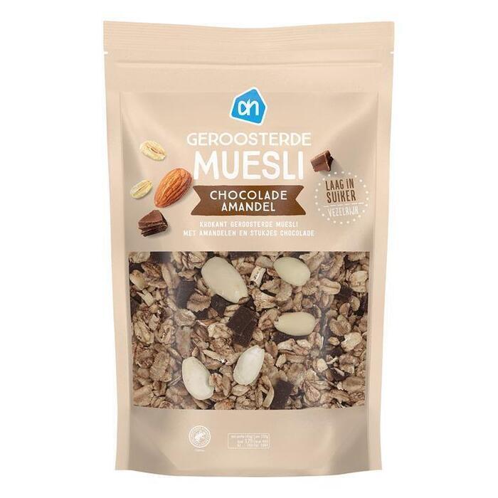 AH Geroosterde muesli chocolade-amandel (325g)