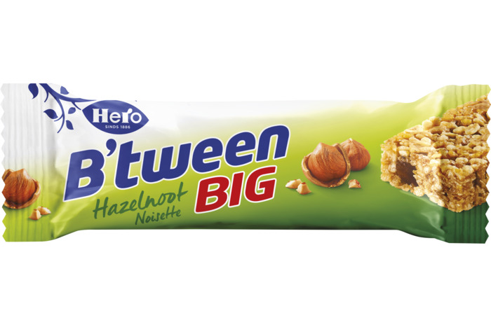HERO B'tween Granenreep Hazelnoot BIG 50g Reep (50g)