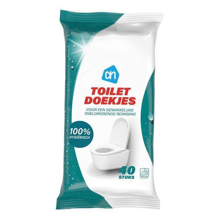 AH Toilet reinigingsdoekjes vochtig