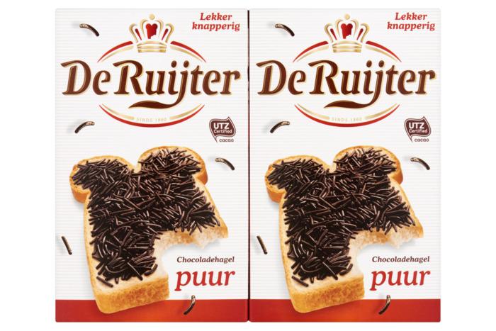 De Ruijter Chocoladehagelslag Puur 6 x 380 g (380g)