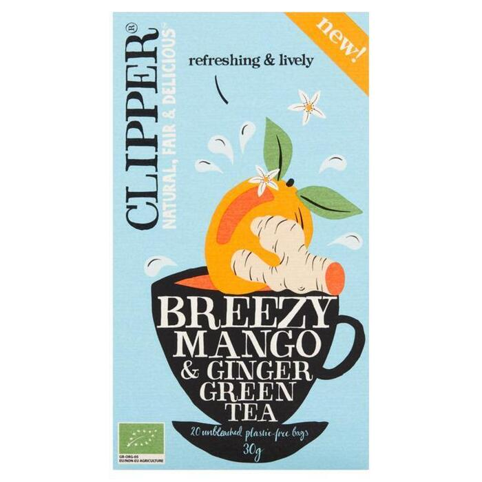 Clipper Breezy Mango & Ginger (20 × 30g)