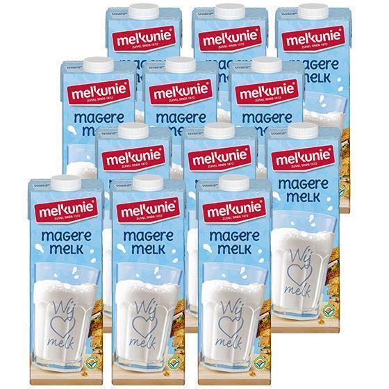 Melkunie magere houdbare melk 12 x 1 liter (10 × 1L)