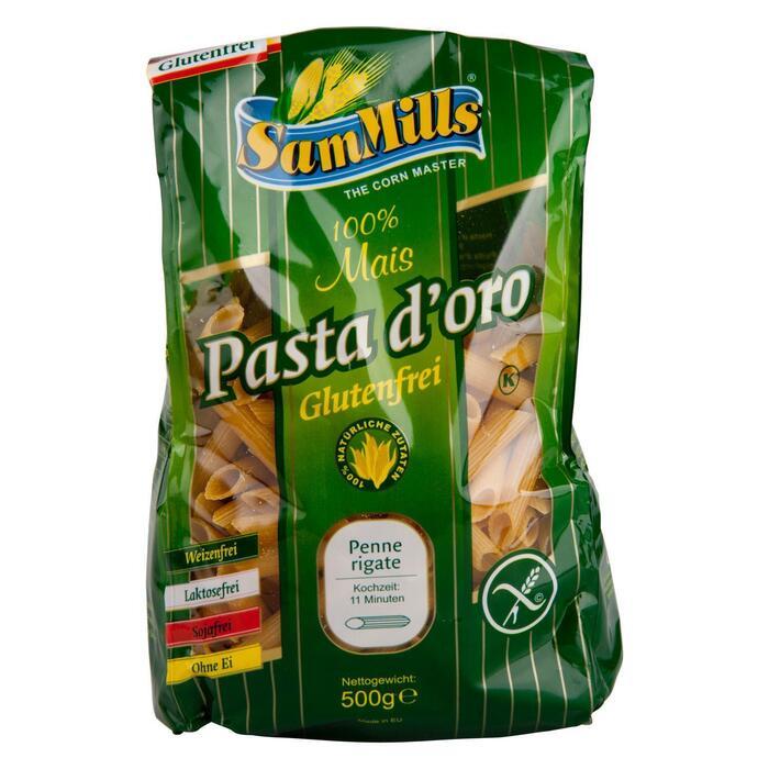 Sam Mills Gluten Free Pasta d'Oro Penne Rigate 500g (500g)