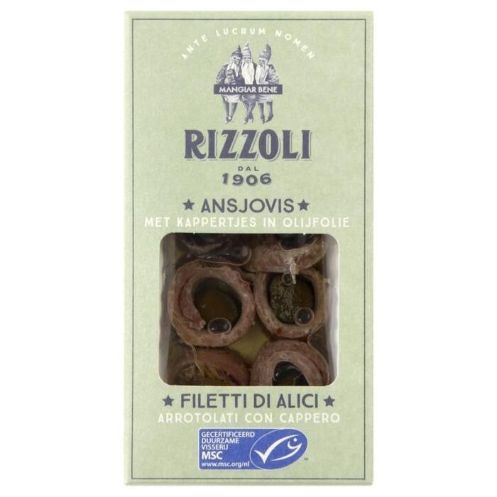 Rizzoli Ansjovis met kappertjes (44g)