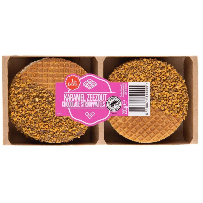 Stroopwafels chocola-karamel-zeezout (231g)