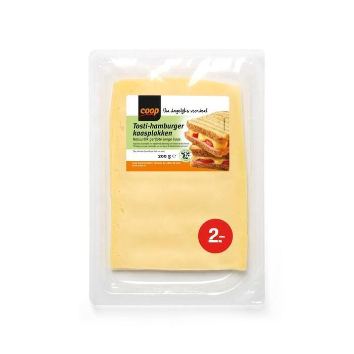 Coop Tosti-hamburgerkaas gesneden (190g)