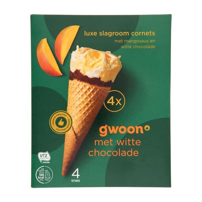 G'woon Cornet mango (4 × 69g)