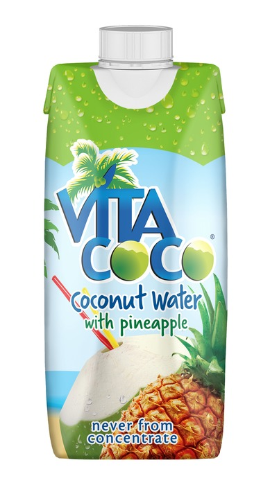 Naturel Coconut water met ananas (pak, 33cl)