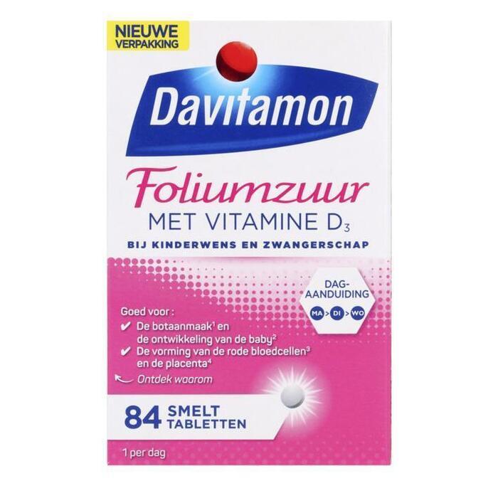 Davitamon Foliumzuur met vitamine D smelttabletjes