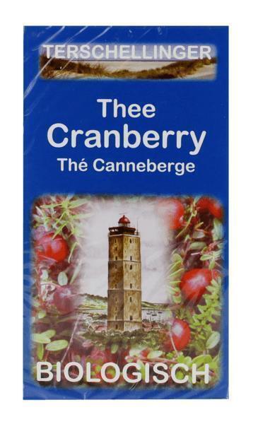 Terschellinger thee Cranberry Biologisch 40g doos (20 × 2g)
