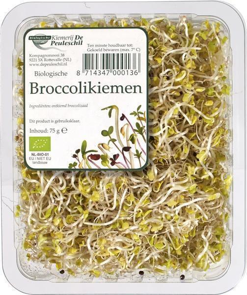 De Peuleschil, Broccolikiemen (Bakje, 75g)