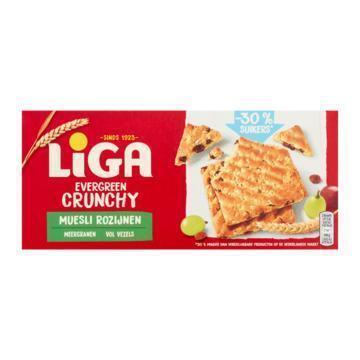 Liga Evergreen crunchy muesli rozijn (225g)
