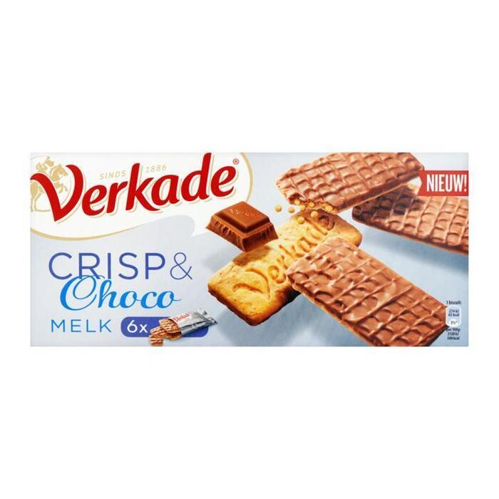 Verkade Crisp & choco melk (150g)