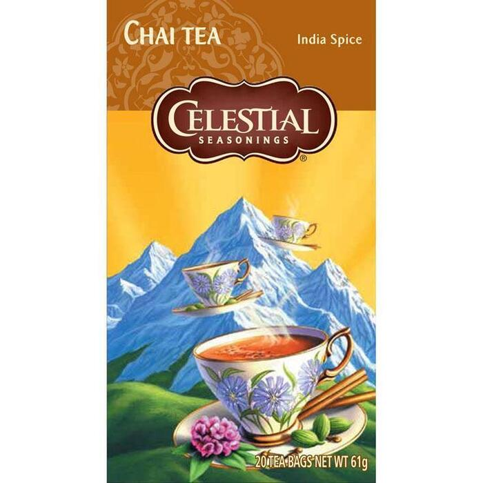 Celestial Seasonings Chai Tea India Spice 20 Stuks 61g (20 × 61g)