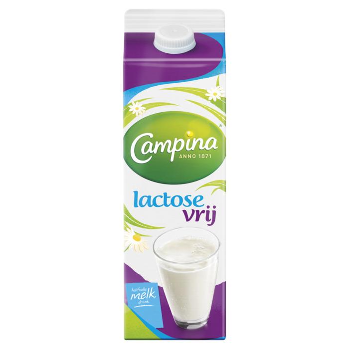 Lactose vrij halfvolle melk (pak, 1L)