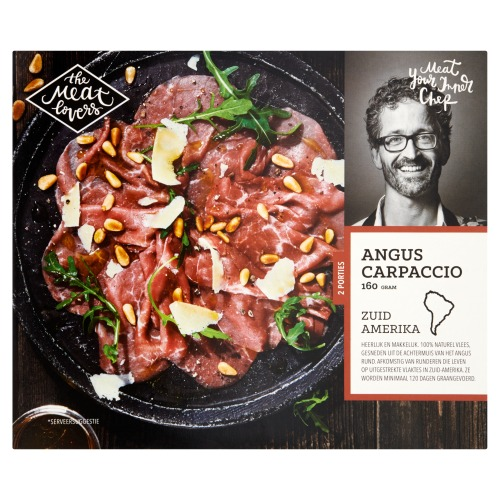 The Meat Lovers Angus Carpaccio 2 Porties 160g (160g)