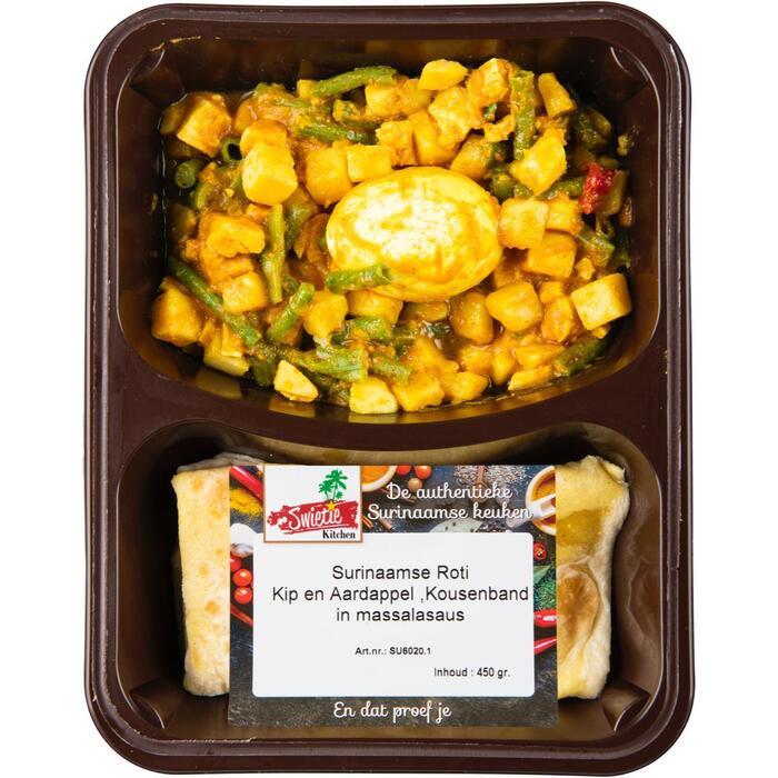 Surinaamse roti kip-ei-aardappel en kousenband (450g)