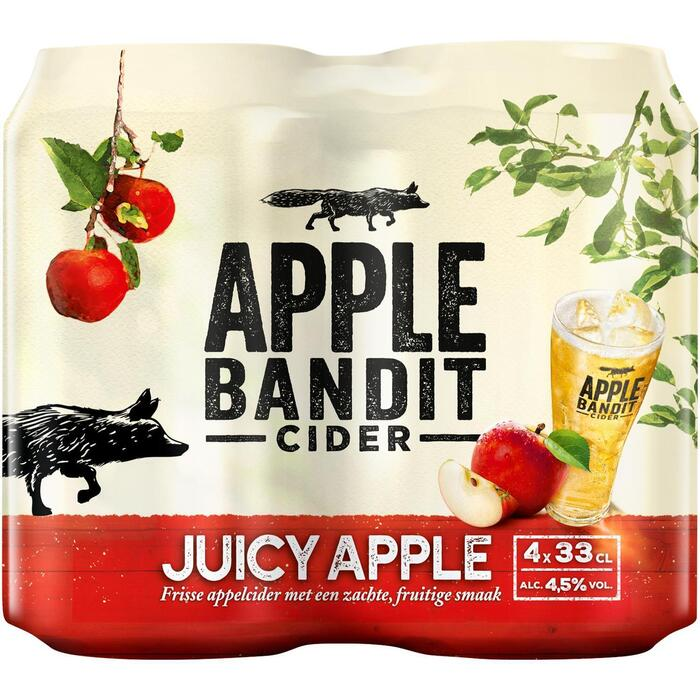 Apple Bandit Juicy Apple Cider Blik 4 x 33 cl (rol, 4 × 33cl)