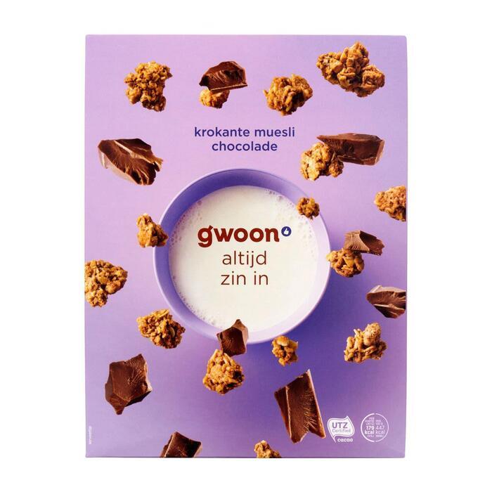 g'woon Krokante muesli chocolade (650g)