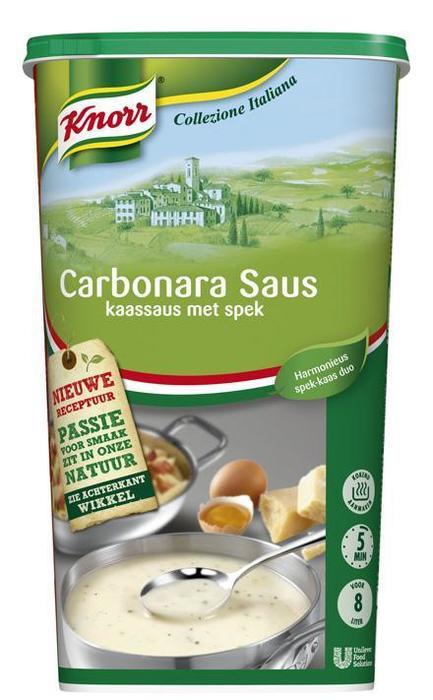 Knorr Collezione Italiana Carbonara saus (6 × 1.24kg)