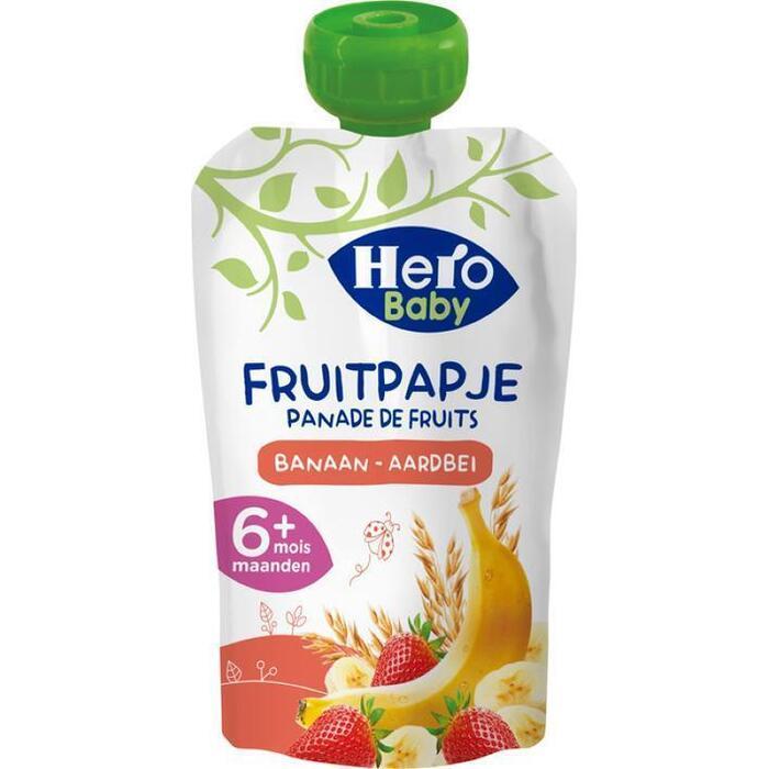 Hero Baby fruitpapje granen, banaan en aardbei (120g)